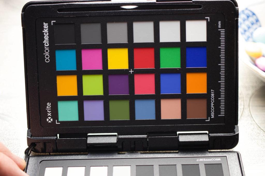 x-rite color checkerの写真