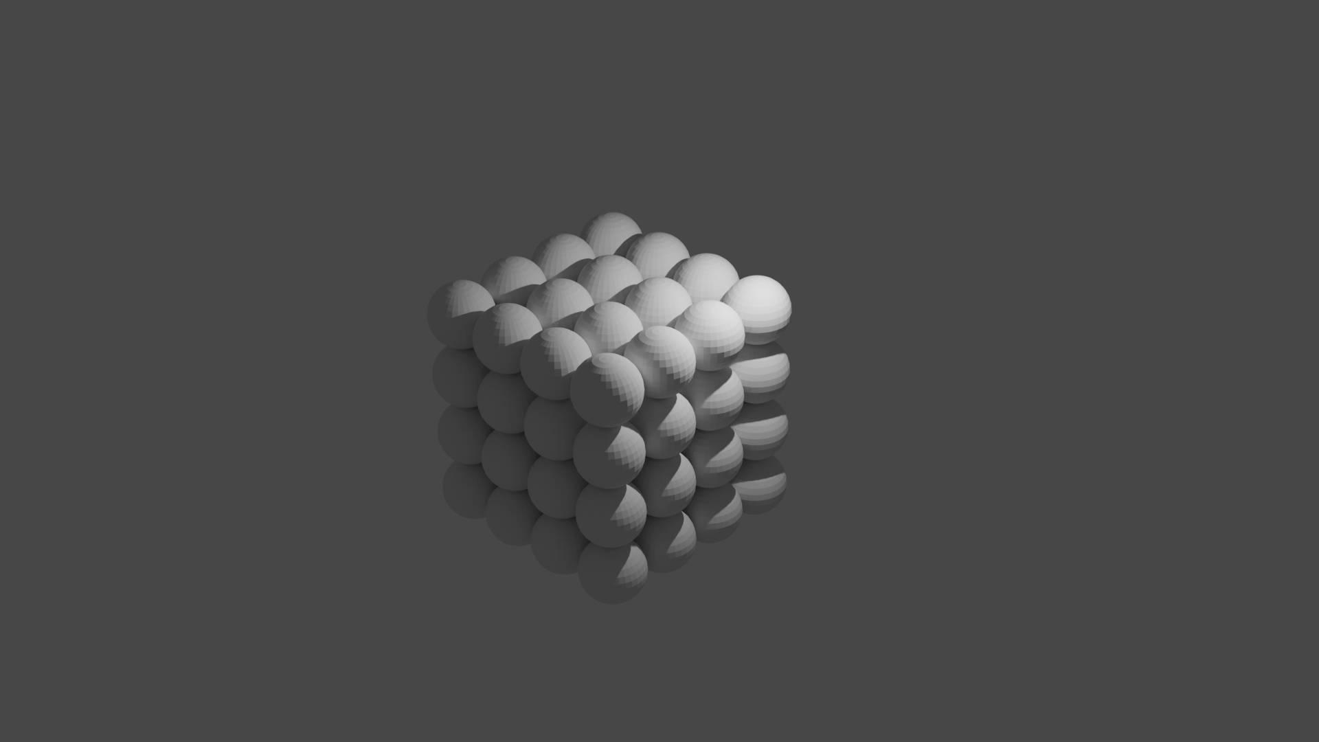 プログラムで作成させた球体を並べたもの